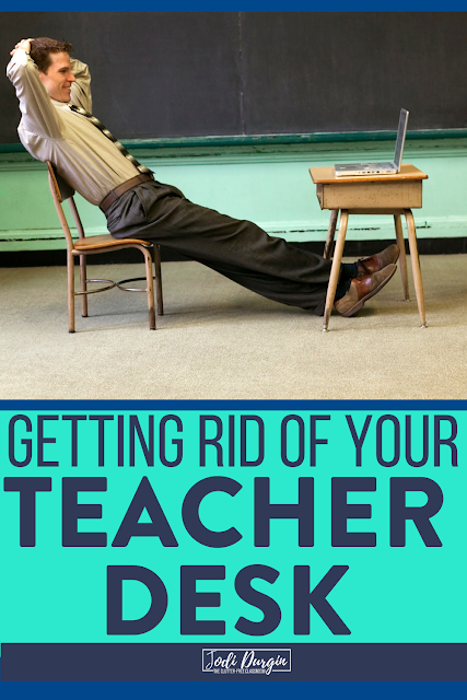 If you are interested in getting rid of your teacher desk, but are unsure of what to use to house all of your teaching supplies, resources, tools, and printables, then check out this Clutter-Free Classroom blog post which will provide tips and ideas as you begin this process. Read the post to learn more! #teacherdeskalternative #teacherdeskalternatives #teacherdeskideas #teacherdeskidea #elementaryclassroom #classroomsetup #classroominspiration