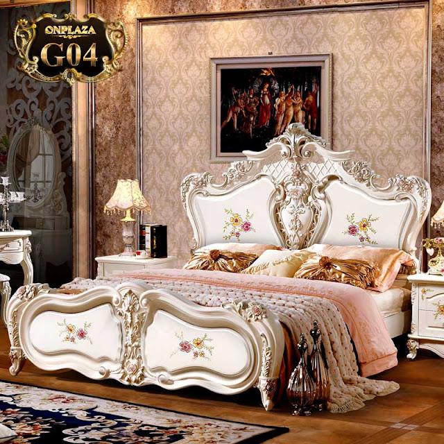 Mẫu giường ngủ tân cổ điển đẹp giá rẻ châu âu