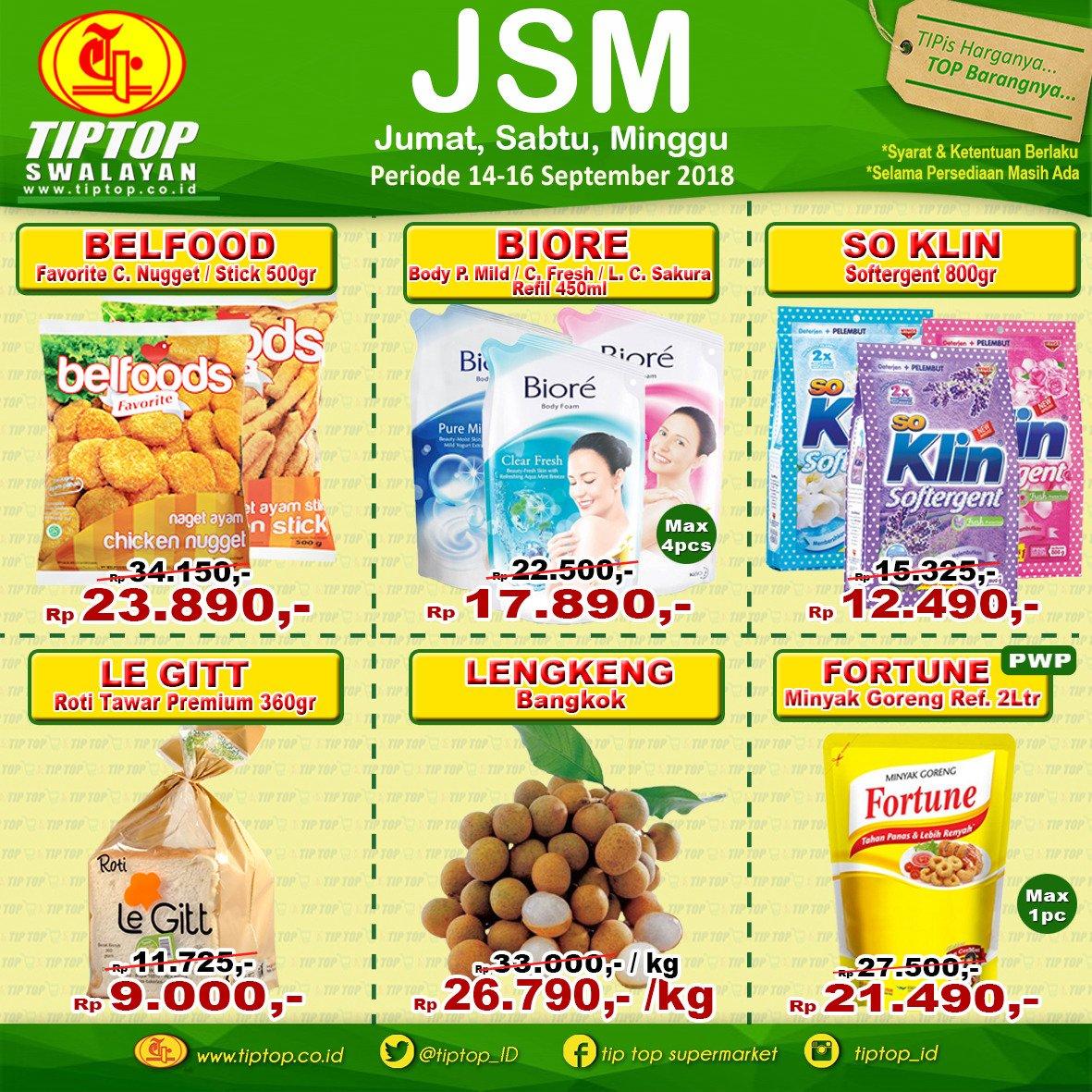 TipTop - Katalog Promo JSM Periode 14 - 16 September 2018