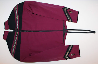 TNG season 2 admiral uniform - jacket zipper
