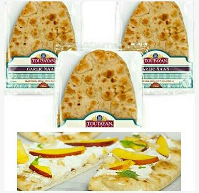 Garlic Naan Breads - Pita Sandwich Flatbreads - Toufayan Pizza Snacks