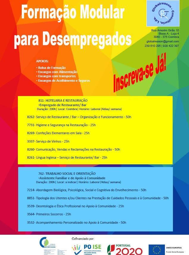 Formações para desempregados em Coimbra