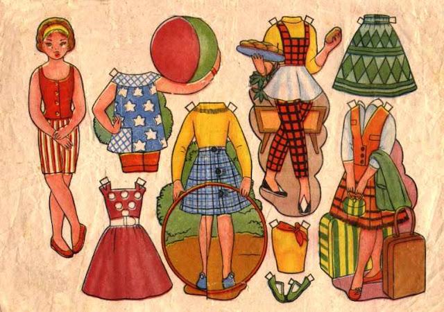 Бумажные куклы винтаж