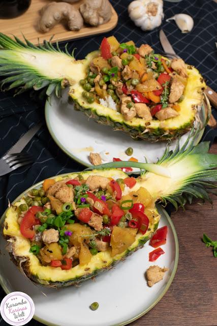 Ananas-Teriyaki-Hähnchen