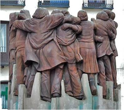 Resultado de imagen para el abrazo de Juan Genovés