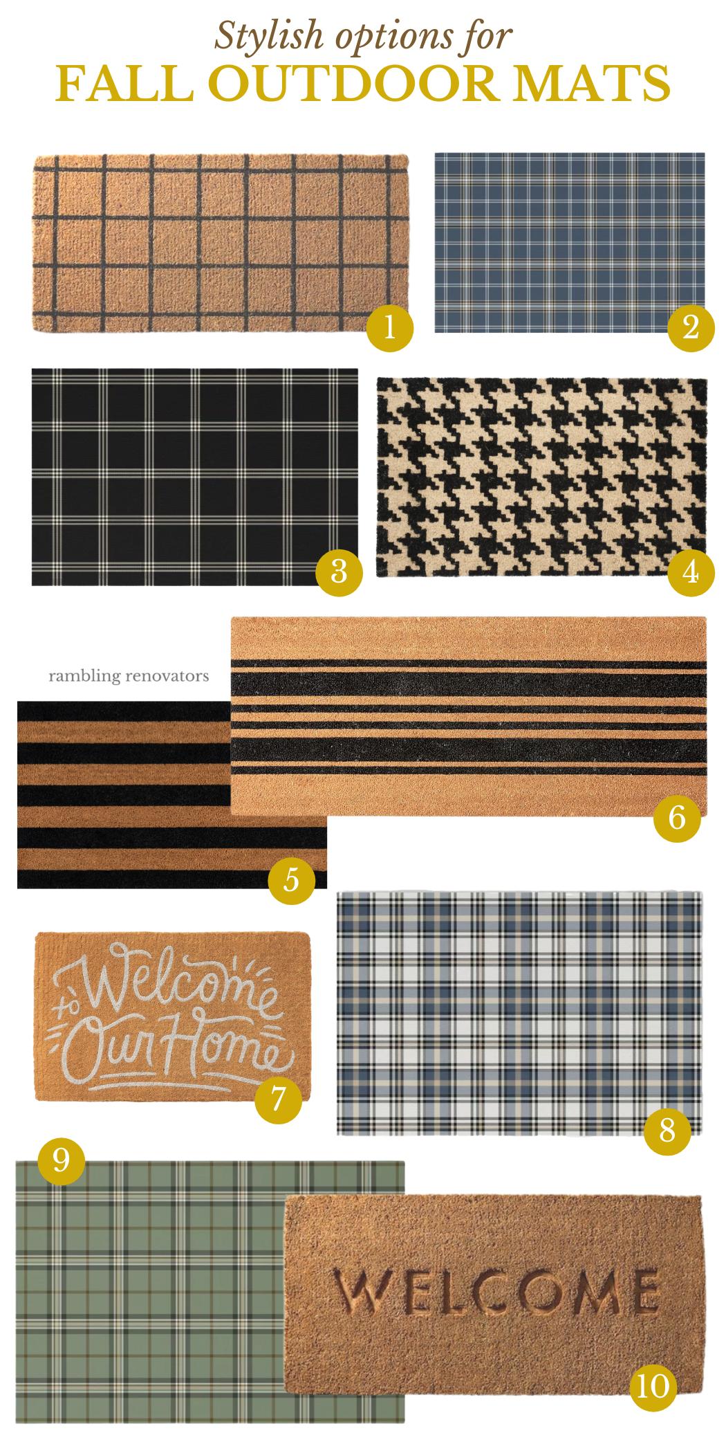 fall outdoor doormats, fall indoor outdoor door mats, fall entry, outdoor door mat