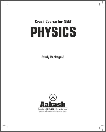 NEET Physics Course : For NEET Exam PDF Book