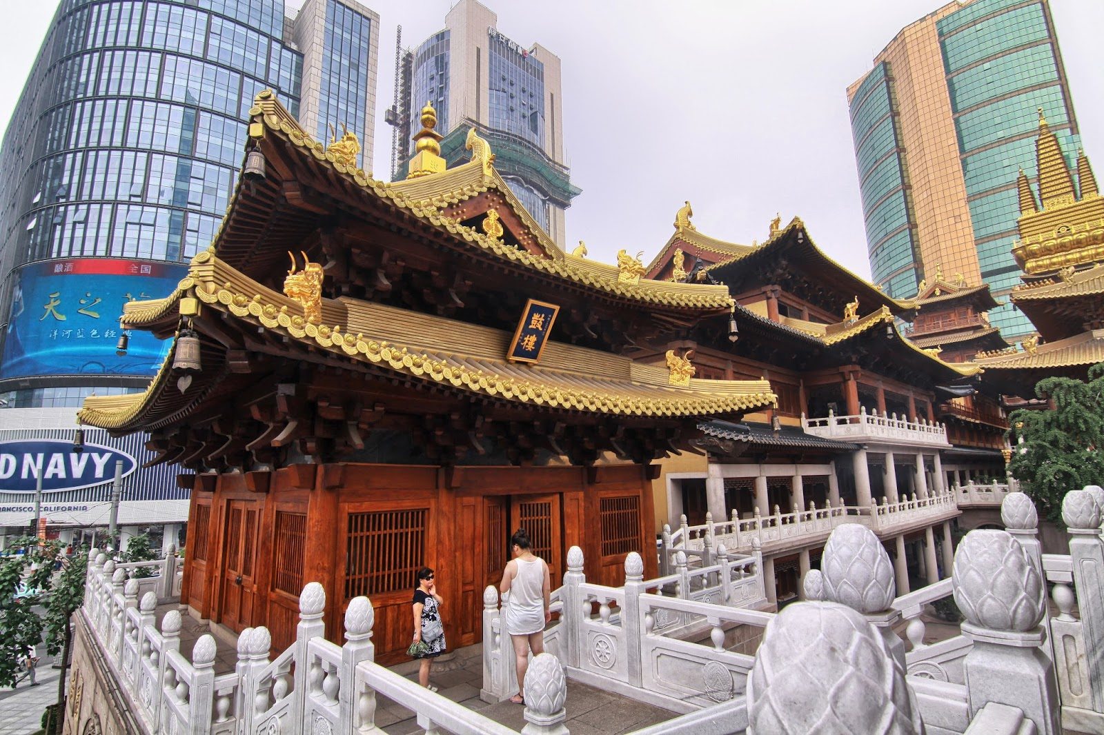 Inside Architecture of Jing'an Temple Shanghai