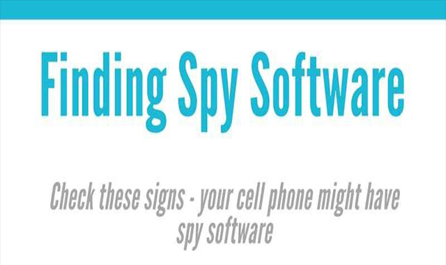 Finding Spy Software #infogrsphic