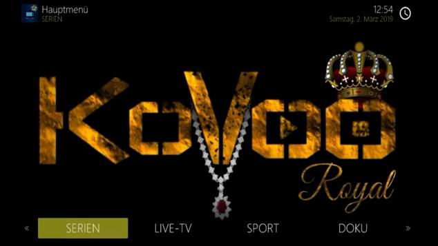 Kovoo Royal Build Kodi - Bestes Deutsches Kodi Build