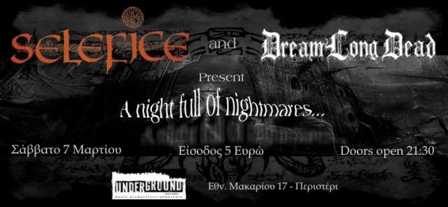 SELEFICE, DREAMLONGDEAD: Σάββατο 7 Μαρτίου @ Underground Music Studios