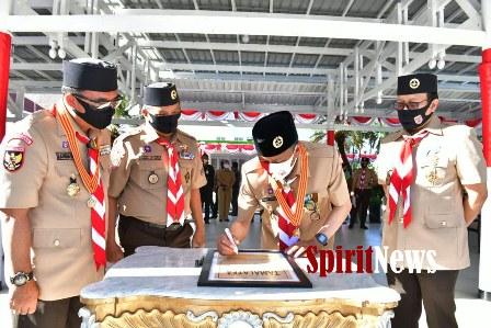 Gubernur Sulsel Pimpin Apel Besar Gerakan Pramuka dan Resmikan Jurnal Tamalate