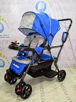 samping Pliko PK-BS2198 Duo Rider - 2 Kursi untuk Kakak dan Adik Kereta Dorong Bayi
