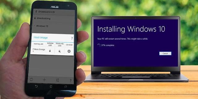 كيفية تثبيت Windows 10 من هاتف ذكي يعمل بنظام Android