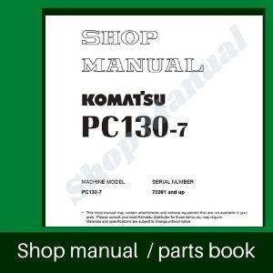 Komatsu shop manual pc130-7
