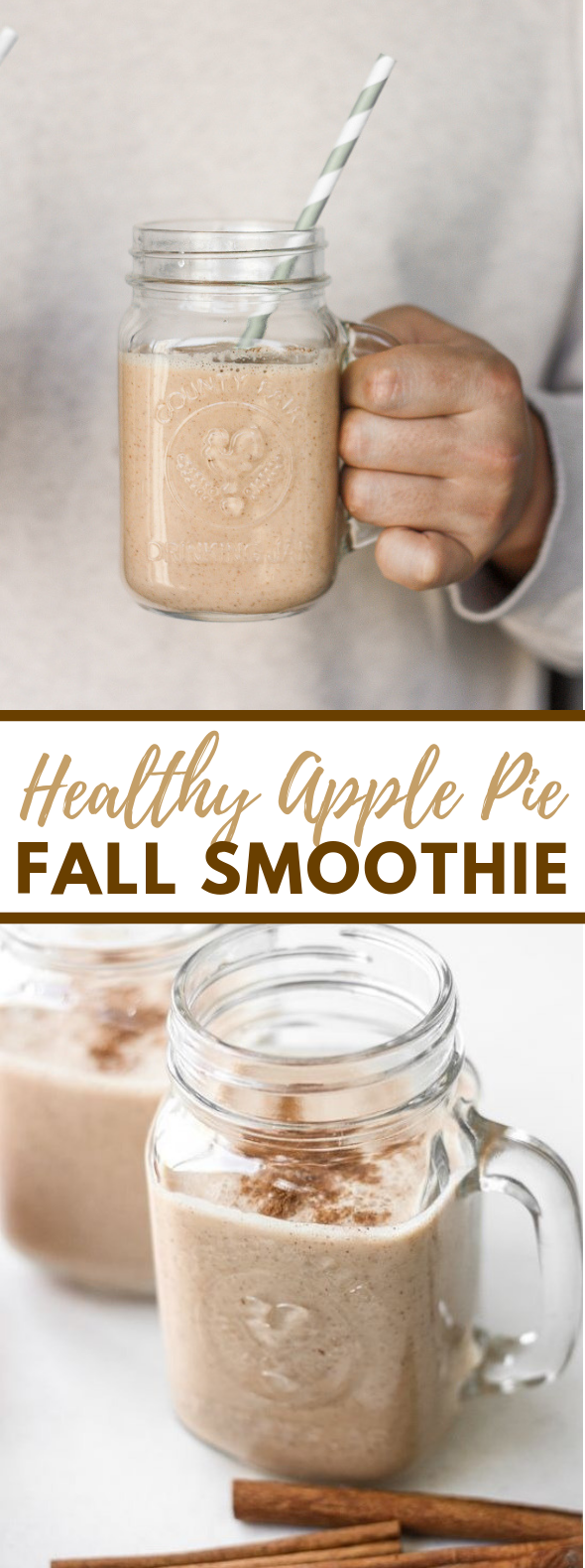 HEALTHY APPLE PIE FALL SMOOTHIE #drink #falldrink