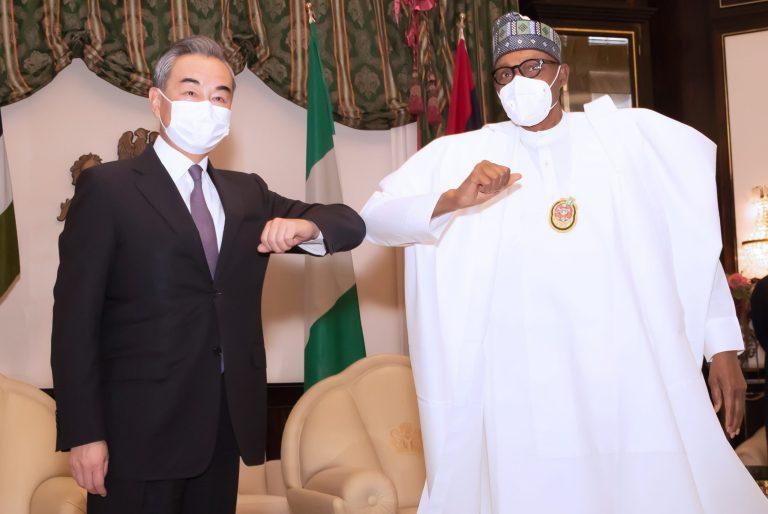 Buhari receives Chinese Foreign Minister, Wang Yi (Photos)