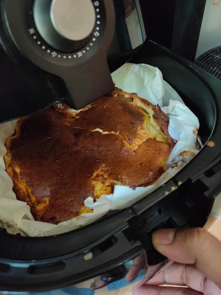 Bakar Kek Keju Guna Airfryer