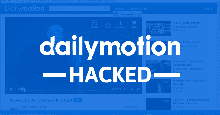 Dailymotion hacked 85 million user accounts stolen dailymotion video hack stopboris Images