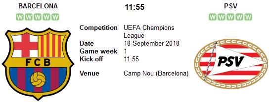 Barcelona vs PSV en VIVO