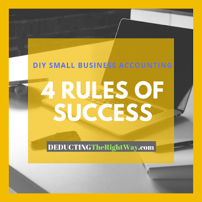 DIY small business bookkeeping tips | www.deductingtherightway.com