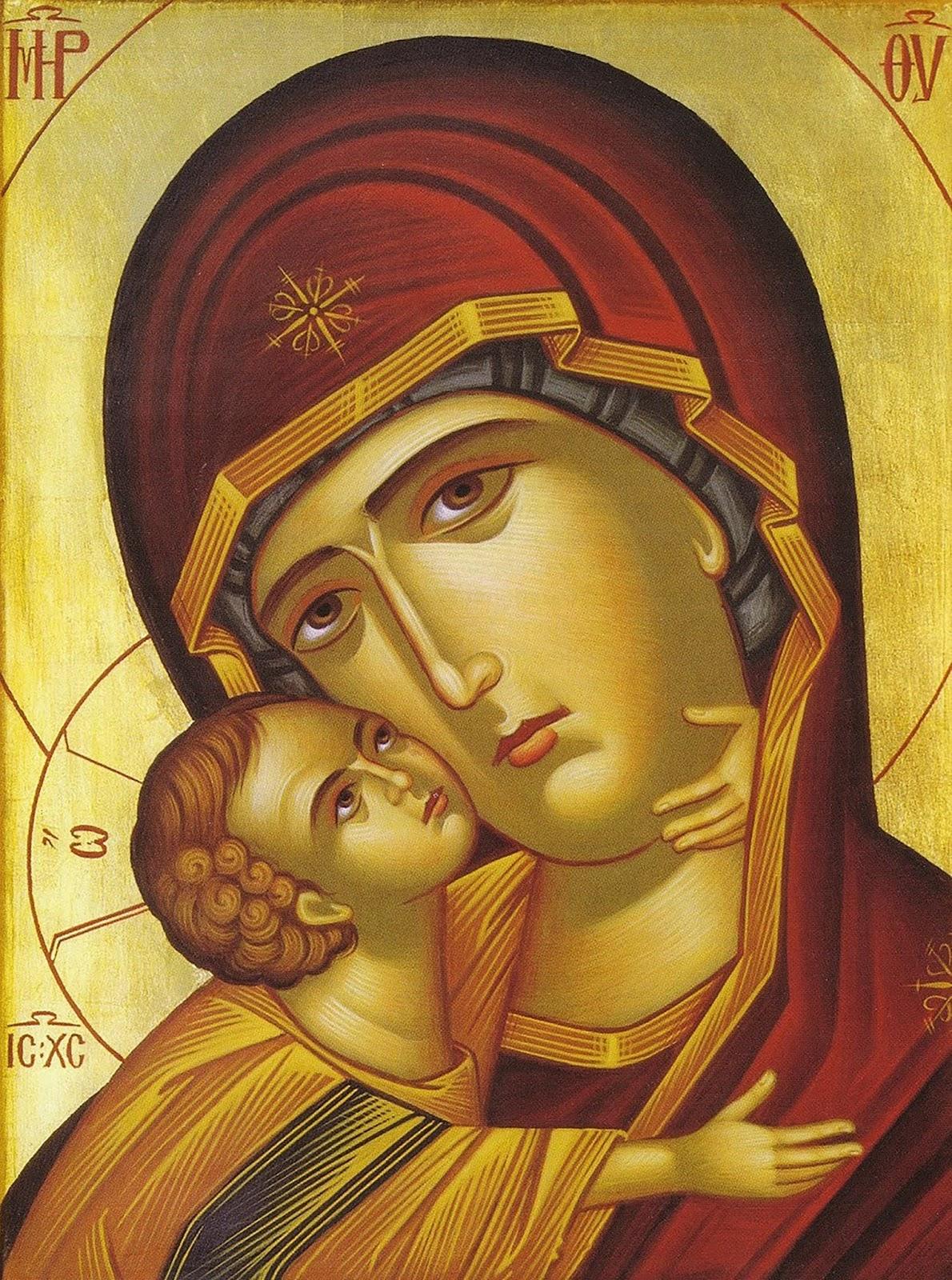 Ícone da Virgem Maria, imagem de Nossa Senhora