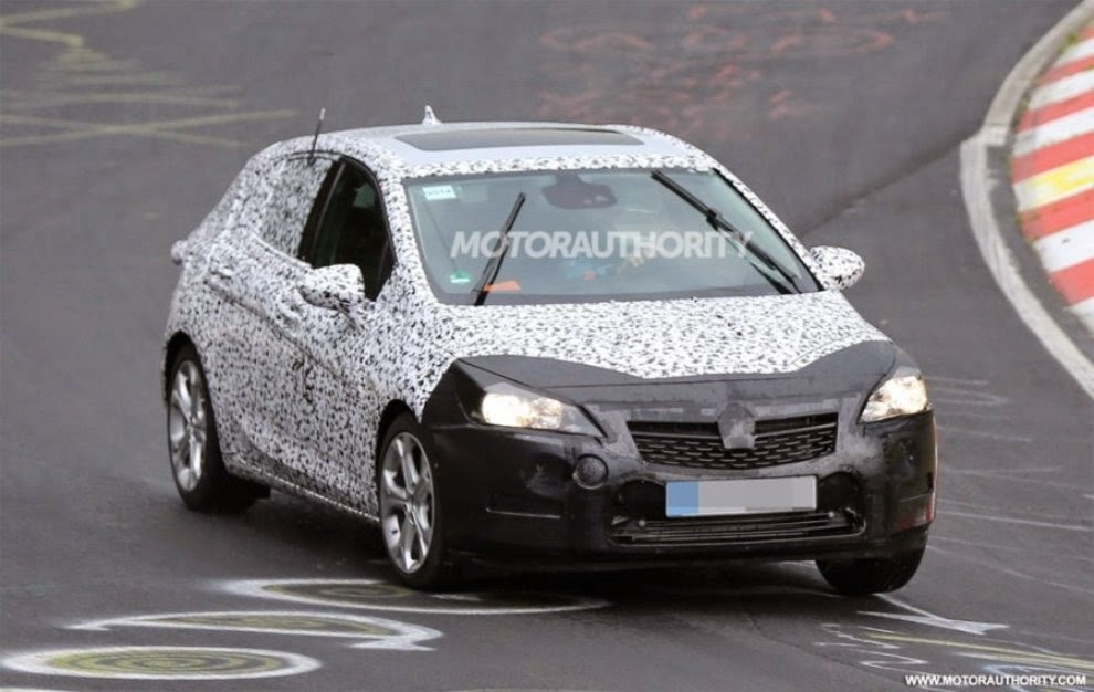 first pictures of the new opel astra 2015 2016 - garage car