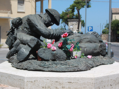 The Price of Peace memorial in the Piazza  Plebiscito in the centre of Ortona