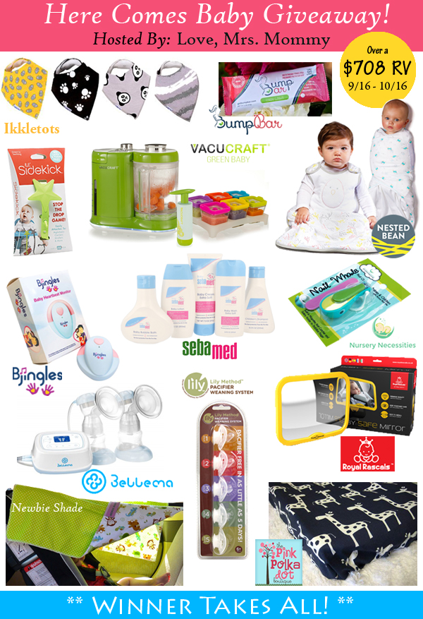 Here Comes Baby Giveaway! Over $708 in Prizes! A Wandering Vine