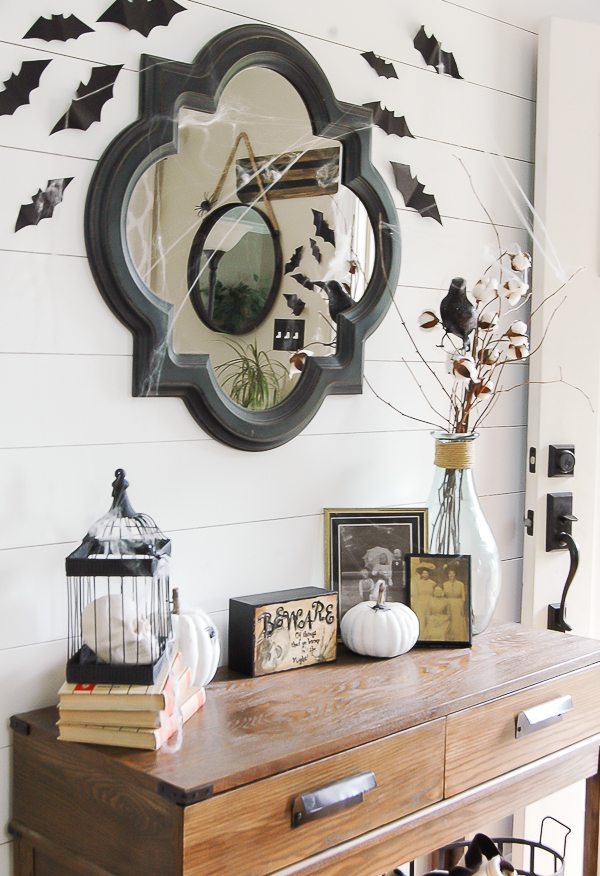 Thrifty Halloween Entryway