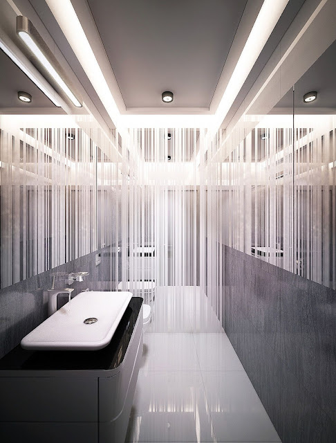 L Shaped Bathroom Design