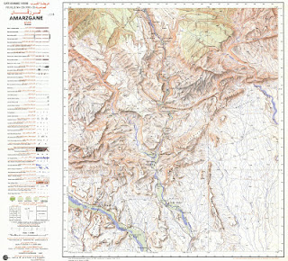 AMARZGANE Morocco 50000 (50k) Topographic map free download