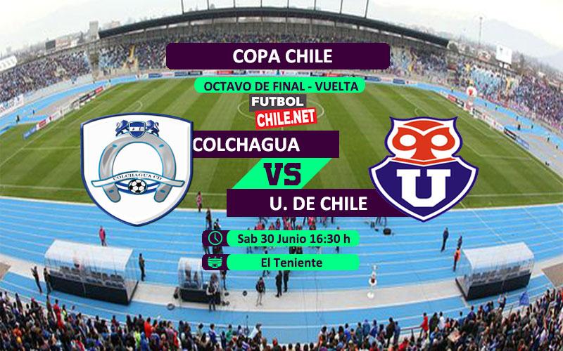 Mira Colchagua vs Universidad de Chile en vivo y online por los octavos de final vuelta de la Copa Chile 2018