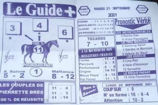 Pronostics quinté pmu Mardi Paris-Turf-100 % 21/09/2021