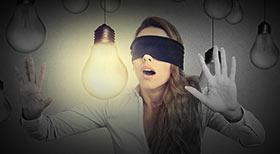Przedstawienie osoby świadomie dającej się kierować intuicją