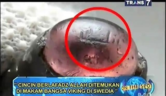 """Cincin Kuno Berlafadz """"Allah"""" Ditemukan di Swedia"""