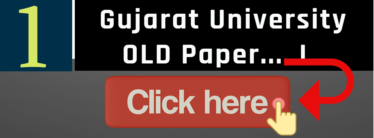 Gujarat University old paper