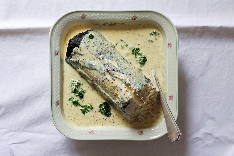 Kochfisch {Schellfisch} mit Rezept für Senfmousseline, eine feine Variante der Senfsauce | Arthurs Tochter kocht. Der Blog für Food, Wine, Travel & Love von Astrid Paul