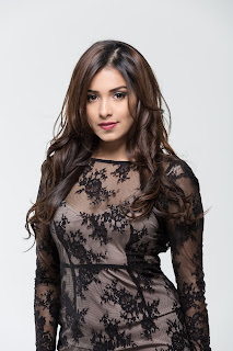Lata Hegde in Transparent Black Gown Sizzling Sexy Skin show