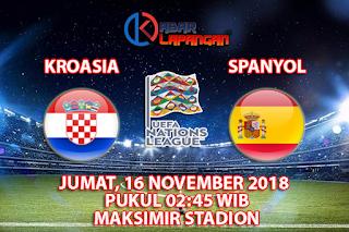 Prediksi Bola Kroasia vs Spanyol 16 November 2018