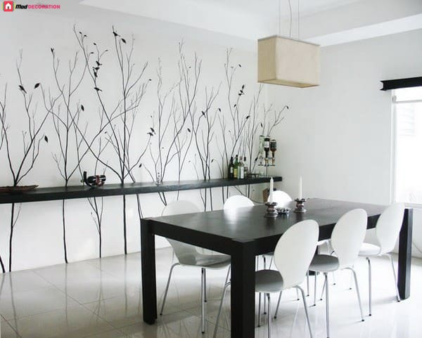 How to decorate the walls of the dining rooms?
