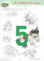 Ficha Pré-Escolar: Número 5
