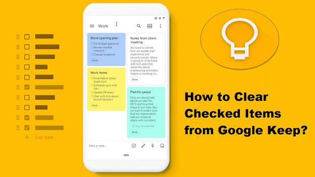 How to Clear Checked Items from Google Keep?