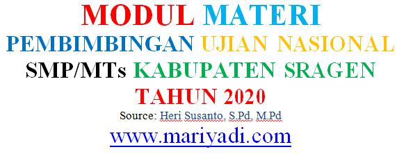 Materi Persiapan Ujian Nasional Bahasa Indonesia SMP MTs Tahun 2020