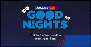Aircel Unlimited Free Internet Data Offer