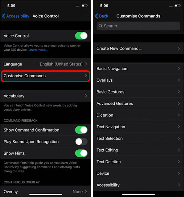 كيفية إعداد واستخدام التحكم الصوتي في iOS 13