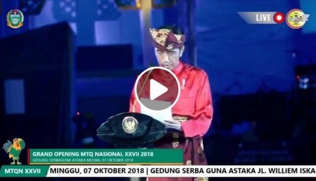 "Viral Video Jokowi Mengucap Alfatihah malah ""Alfatekah"" Diketawain Hadirin di Pembukaan MTQ"