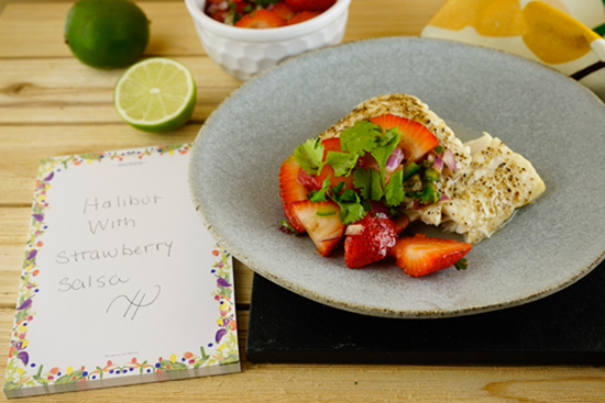 strawberry salsa with fish