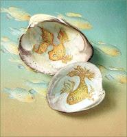 Manualidades : conchas pintadas a mano PECES