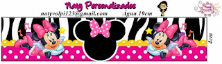 Mini Kit de Minnie Rosa y Cebra para Descargar Gratis.